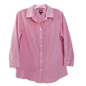 Talbots Womens Shirt size 10 button front blouse